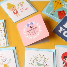 爱心祝福留言空白DIY卡片带信封 想对TA说的话留言给我们