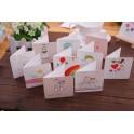 爱心卡片带信封 祝福留言空白DIY卡片