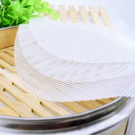 网格蒸笼垫 硅胶屉布   蒸包子馒头不粘垫  直径28CM