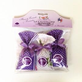 Le Chatelard 1802南法特产经典紫色风情  薰衣草香包18g*3套装