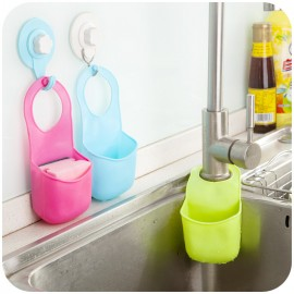 创意居家  按扣式水槽置物沥水架  颜色混发