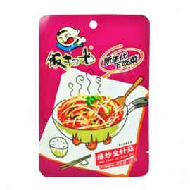 (卖光啦)饭扫光爆炒金针菇 60G