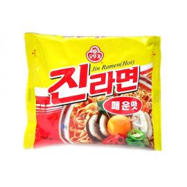 韩国原产OTTOGI不倒翁 金拉面 特辣/ JIN RAMEN HOT 120G