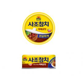 韩国原产SAJO  思潮金枪鱼罐头 烧烤味 100G