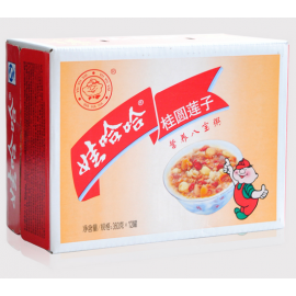 礼品盒装  娃哈哈桂圆莲子八宝粥 360G *12罐