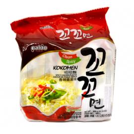 韩国原产PALDO海地村 八道咕咕鸡面 香辣鸡汤味五连包 5*120G