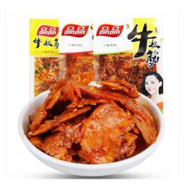 (卖光啦)品品 牛板筋 香辣味 30G