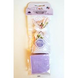 Le Chatelard 1802南法特产紫色浪漫系列  薰衣草香包+香皂 颜色混发
