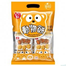 台湾热销九福  动物饼干  牛奶风味 200G
