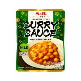 日本S&B金牌日式咖喱-与蔬菜酱料微辣 210G