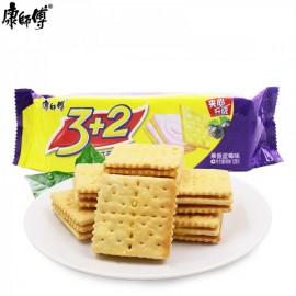 康师傅3+2苏打夹心饼干  果香蓝莓味 125G