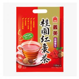 台湾原产义美  桂圆红枣茶 18包入  180G