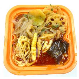 (卖光啦)与美懒人大厨  自发热火锅冒菜 蔬菜版 碗装 425G