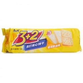 (卖光啦)康师傅3+2香浓奶油夹心饼干125G
