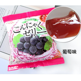 (卖光啦)日本热销雪国 果汁蒟蒻果冻 布丁 葡萄味 108G