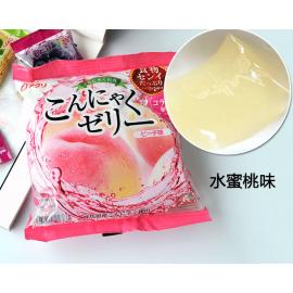 (卖光啦)日本热销雪国 果汁蒟蒻果冻 布丁 水蜜桃味 108G