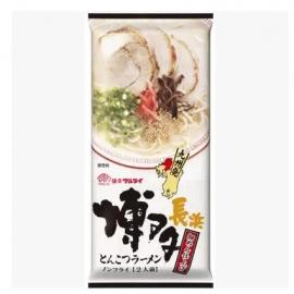 日本热销MARUTAI玛尔泰 博多长浜豚骨拉面 2人份 185G