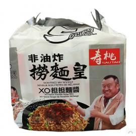 香港寿桃牌非油炸捞面皇 XO担担面酱 5连包 95G*5