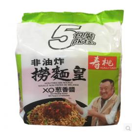 香港寿桃牌非油炸捞面皇  XO葱香酱 5连包 95G*5