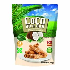 泰国原产酥脆米卷 蛋卷 椰香味 100G