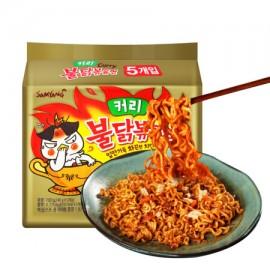 (卖光啦)韩国原产三养 SAMYANG 热辣火鸡面 咖喱味 五连包 140G*5
