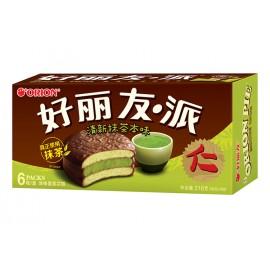 好丽友 注心蛋类芯饼 清新抹茶本味 216G