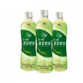 (卖光啦)统一阿萨姆奶茶饮料  煎茶奶绿味  450ML