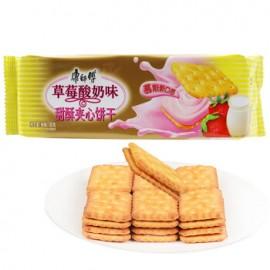 康师傅甜酥夹心饼干 草莓酸奶味 80G