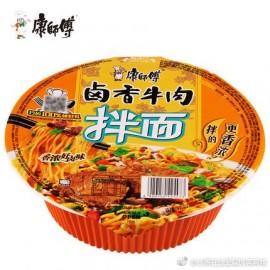 (卖光啦)康师傅卤香牛肉干拌面  碗装 123G