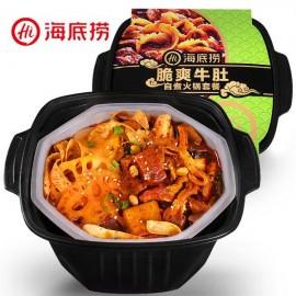 (卖光啦)海底捞 脆爽牛肚自煮火锅套餐 435G