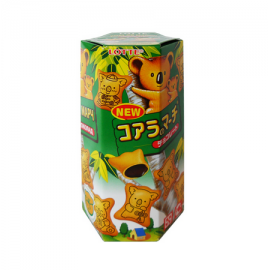 (卖光啦)乐天朱古力小熊饼  37G
