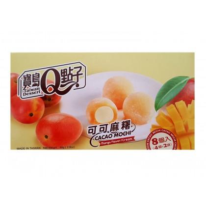台湾原产宝岛Q点子 可可麻糬 芒果味 8枚入 80G