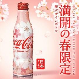 日本原产热销COCA-COLA可口可乐2019限定樱花可乐汽水纪念版铝罐碳酸饮料250ML