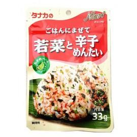日本热销田中食品 鲜菜辛辣明太鱼子拌饭调味料 33G