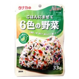 日本热销田中食品 六种蔬菜拌饭调味料 33G