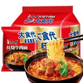 康师傅红烧牛肉面大食袋 五连包 104G*5袋入