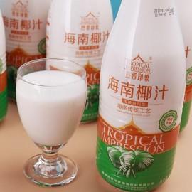 海南椰汁热带印象 生榨果肉椰汁 500ML
