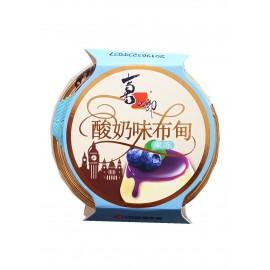喜之郎酸奶味布甸果冻+蓝莓果酱 120G