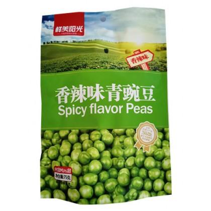 鲜美阳光香辣味青豌豆 75G